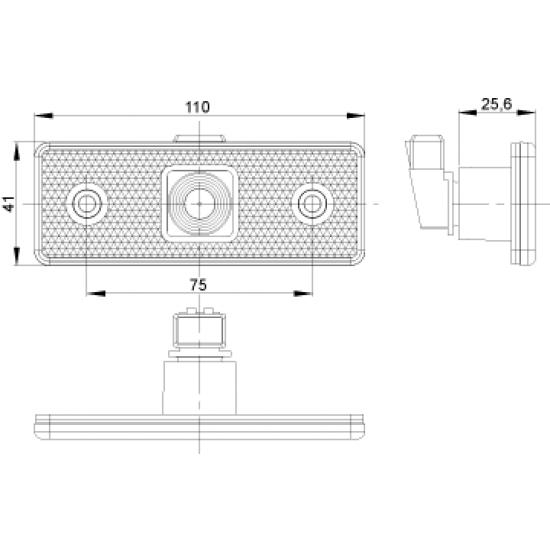 Lampa marcaj lateral 41*110/75 LO 179