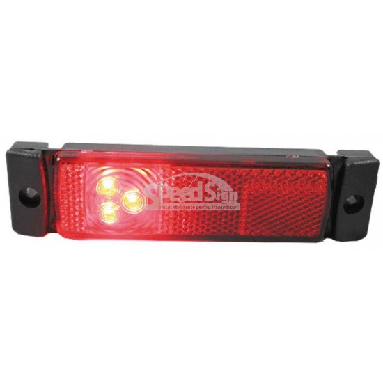 Lampa marcaj LED rosu 33*130/115; 12-24V LD 129