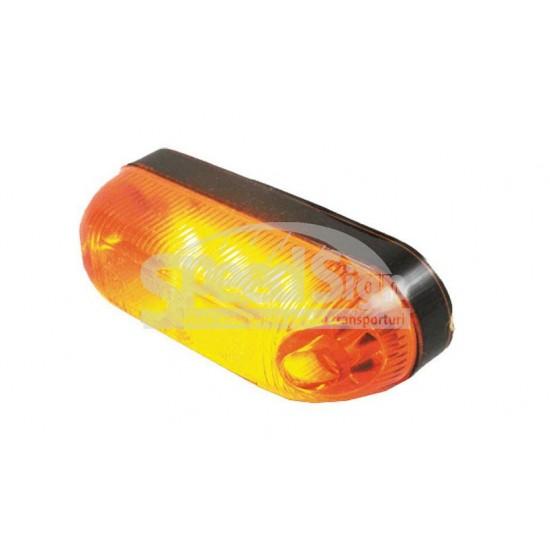 Lampa marcaj LED oval, galben 24*81/61; 12-24V LD 390