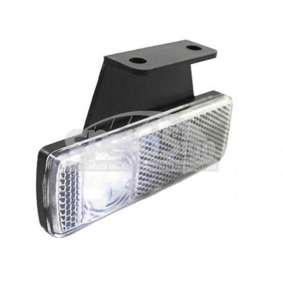 Lampa marcaj LED cu suport stanga 33*101/30 alb LD 454L