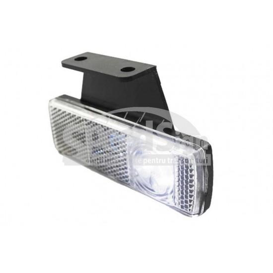 Lampa marcaj LED cu suport dreapta 33*101/30 alb LD 454 P